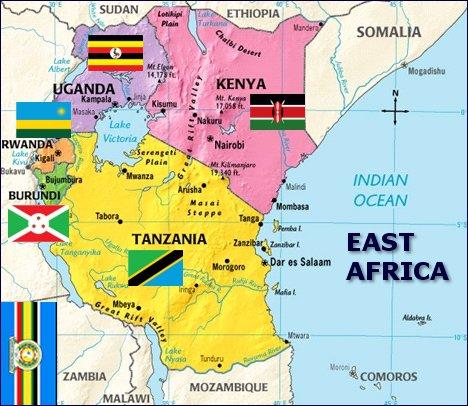rwanda east africa map