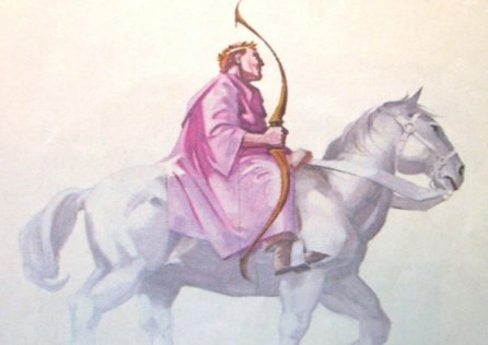 Image result for revelation: rider on the white horse a bow with no arrows